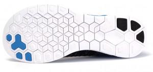 Nike Free 4.0 Flyknit - Azul - Solado