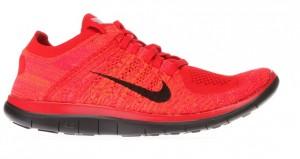 Nike Free 4.0 Flyknit - Lateral - Vermelho